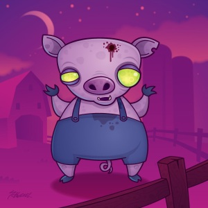 GOOD LORD A ZOMBIE PIG I THINK I HAVE SEEN IT ALL MAY BE NOT I AM NOT THAT OLD